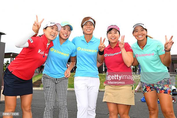 Lala Anai and Yoshie NakamuraNarumi YamadaSaki TakeoKeiko Yamamoto of Japan celebrates after winning the Golf 5 Ladies Tournament 2016 at the Golf 5...