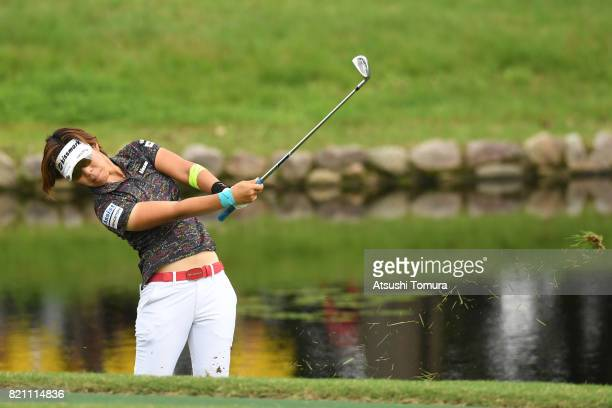 OTSU JAPAN Lala Anai of Japan hits her second shot on the 6th hole during the final round of the Century 21 Ladies Golf Tournament 2017 at the Seta...