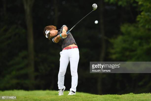 OTSU JAPAN Lala Anai of Japan hits her tee shot on the 6th hole during the final round of the Century 21 Ladies Golf Tournament 2017 at the Seta Golf...