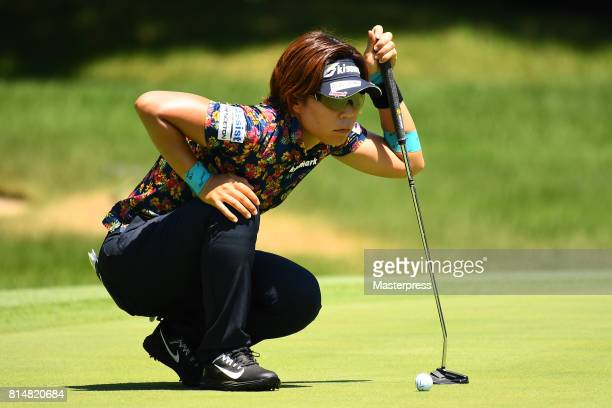 Lala Anai of Japan lines up during the second round of the Samantha Thavasa Girls Collection Ladies Tournament at the Eagle Point Golf Club on July...