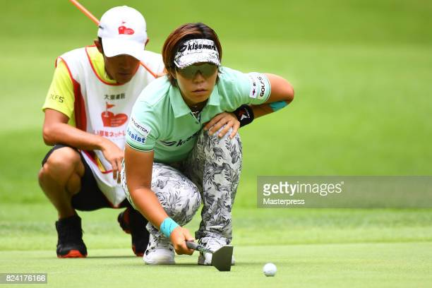 Lala Anai of Japan lines up during the third round of the Daito Kentaku Eheyanet Ladies 2017 at the Narusawa Golf Club on July 29 2017 in Narusawa...