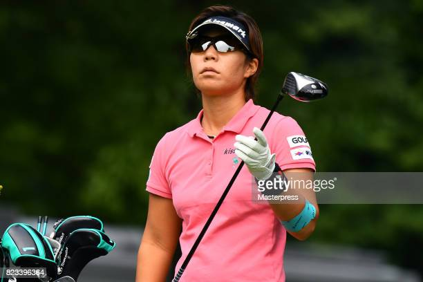 Lala Anai of Japan looks on during the first round of the Daito Kentaku Eheyanet Ladies 2017 at the Narusawa Golf Club on July 27 2017 in Narusawa...