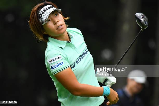 Lala Anai of Japan looks on during the third round of the Daito Kentaku Eheyanet Ladies 2017 at the Narusawa Golf Club on July 29 2017 in Narusawa...