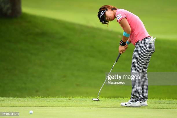 Lala Anai of Japan putts during the first round of the Daito Kentaku Eheyanet Ladies 2017 at the Narusawa Golf Club on July 27 2017 in Narusawa...