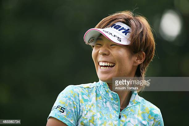 Lala Anai of Japan smiles during the second round of the meiji Cup 2015 at the Sapporo Kokusai Country Club on August 8 2015 in Kitahiroshima Japan