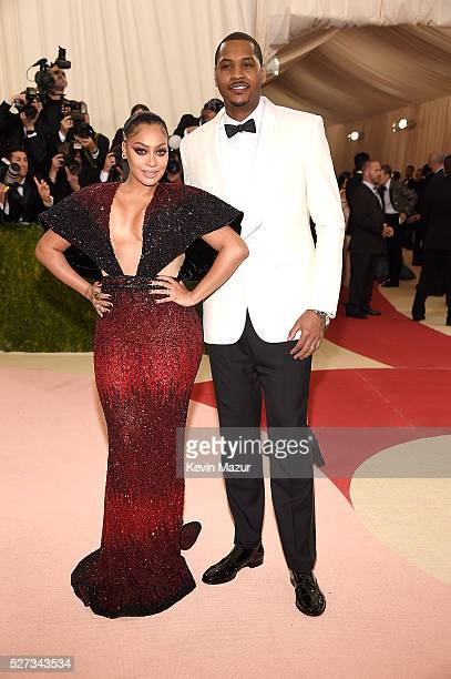 LaLa Anthony and Carmelo Anthony attend 'Manus x Machina Fashion In An Age Of Technology' Costume Institute Gala at Metropolitan Museum of Art on May...