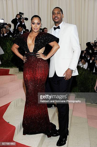 Lala Anthony and Carmelo Anthony attends 'Manus x Machina Fashion In An Age Of Technology' Costume Institute Gala at