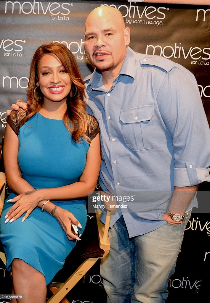 Lala Anthony and Fat Joe at the 2014 Market America World Conference at American Airlines Arena on February 8, 2014 in Miami, Florida.
