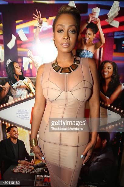 LaLa Anthony attend Sony Pictures' 'Think Like A Man Too' Miami red carpet screening at Regal South Beach on June 10 2014 in Miami Florida