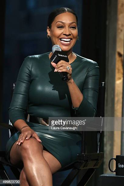 LaLa Anthony attends AOL BUILD Presents La La Anthony 'Unforgettable' at AOL Studios In New York on December 3 2015 in New York City
