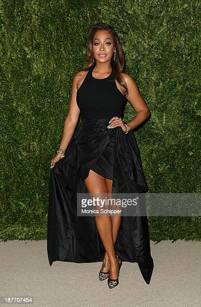 Lala Anthony attends CFDA and Vogue 2013 Fashion Fund Finalists Celebration at Spring Studios on November 11 2013 in New York City