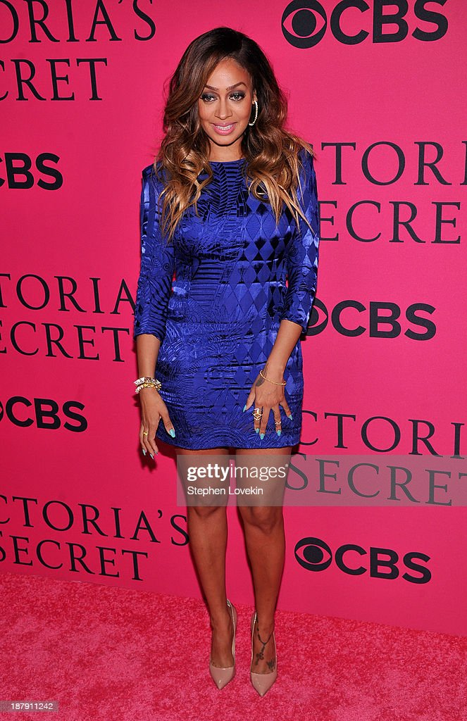 Lala Anthony attends the 2013 Victoria's Secret Fashion Show at Lexington Avenue Armory on November 13, 2013 in New York City.