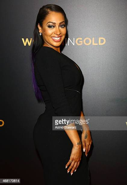 LaLa Anthony attends 'Woman In Gold' New York Premiere at The Museum of Modern Art on March 30 2015 in New York City