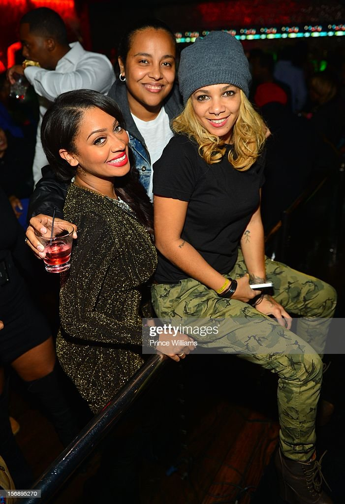 LaLa Anthony, Candice 'Dice' Dixon and Po Johnson attend party hosted by LaLa at Reign Nightclub on November 23, 2012 in Atlanta, Georgia.