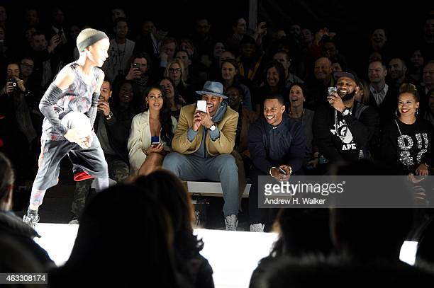 Lala Anthony Carmelo Anthony Victor Cruz and CC Sabathia attend Kids Rock during MercedesBenz Fashion Week Fall 2015 at Lincoln Center for the...