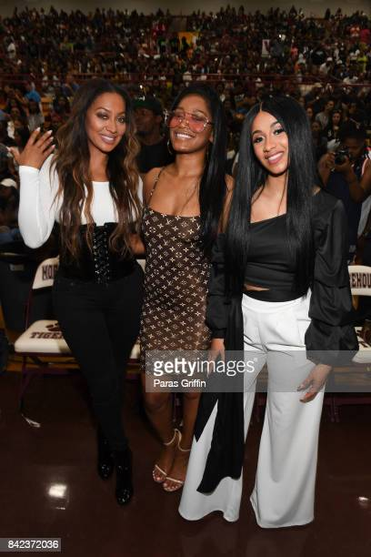 LaLa Anthony KeKe Palmer and Cardi B at 2017 LudaDay Celebrity Basketball Game at Morehouse College Forbes Arena on September 3 2017 in Atlanta...