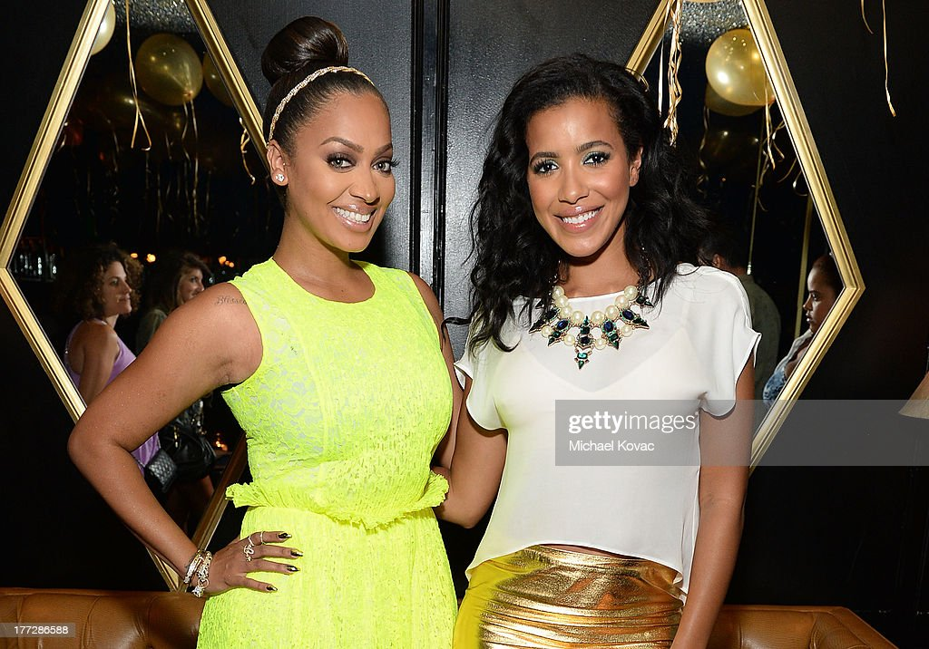 LaLa Anthony, left, and Julissa Bermudez celebrate the one year anniversary of Courvoisier Gold at Bootsy Bellows on August 22, 2013 in West Hollywood, California.