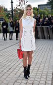 Lala Rudge arrives at the Louis Vuitton Fashion Show during the Paris Fashion Week S/S 2016 Day Nine on October 7 2015 in Paris France
