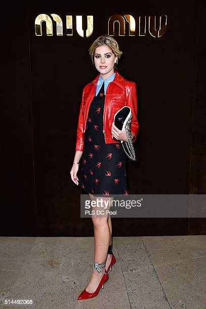 Lala Rudge attends the Miu Miu show as part of the Paris Fashion Week Womenswear Fall / Winter 2016 on March 9 2016 in Paris France