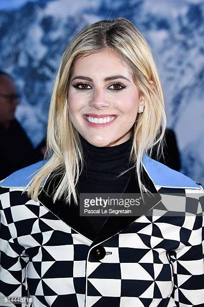 Lala Rudge attends the Moncler Gamme Rouge show as part of the Paris Fashion Week Womenswear Spring/Summer 2016 at Grand Palais on March 9 2016 in...