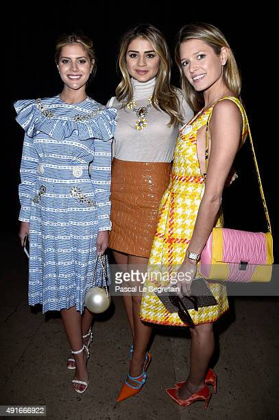 Lala Rudge guest and Helena Bordon attend the Miu Miu show as part of the Paris Fashion Week Womenswear Spring/Summer 2016 on October 7 2015 in Paris...