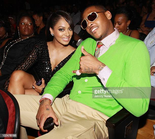 LaLa Vasquez and Carmelo Anthony at The Shrine Auditorium on June 27 2010 in Los Angeles California