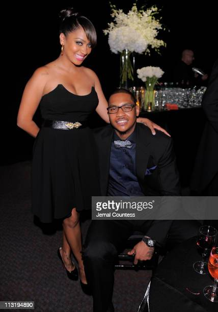 Lala Vazquez and NBA player Carmelo Anthony attend the TIME 100 Gala TIME'S 100 Most Influential People In The World at Frederick P Rose Hall Jazz at...