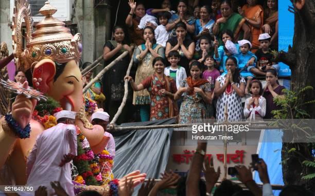 Lalabaug Raja at DrAmbedkar Road on Ganpati immersion day in Mumbai