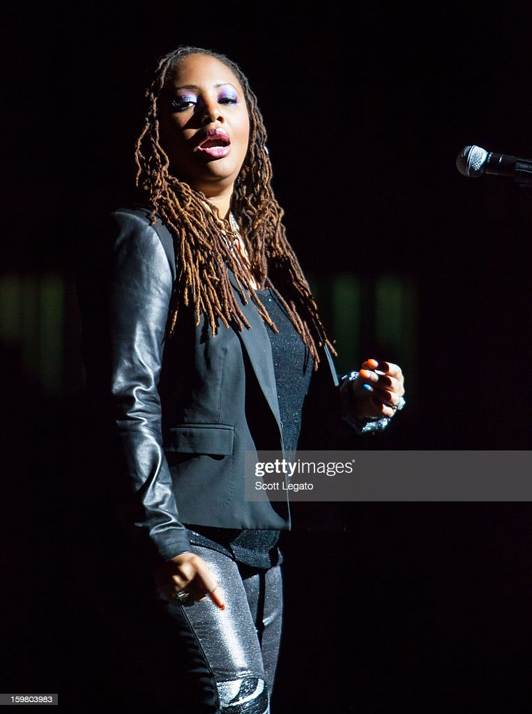 Lalah Hathaway performs in concert for A Night of NeoSoul at Detroit Opera House on January 20, 2013 in Detroit, Michigan.