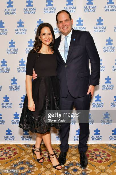 Laleh Harper and Board Member of Austism Speaks Brian L Harper attend Autism Speaks Celebrity Chef Gala on Wall Street at Cipriani Wall Street on...
