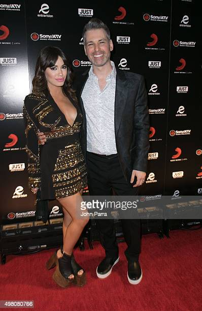 Lali Esposito and Nir Seroussi attend Sony Music Latin's Official Latin Grammy After Party at XS nightclub at Encore Las Vegas on November 19 2015 in...