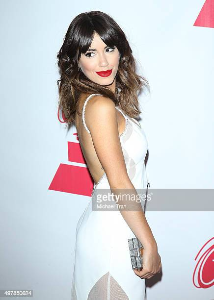 Lali Esposito arrives at the 2015 Person of the Year honoring Roberto Carlos held at the Mandalay Bay Events Center on November 18 2015 in Las Vegas...