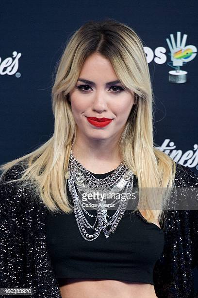 Lali Esposito attends the '40 Principales' awards 2013 photocall at the Barclaycard Center on December 12 2014 in Madrid Spain