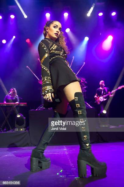 Lali Esposito performs on stage during Soy Tour at Sala Barts on April 6 2017 in Barcelona Spain