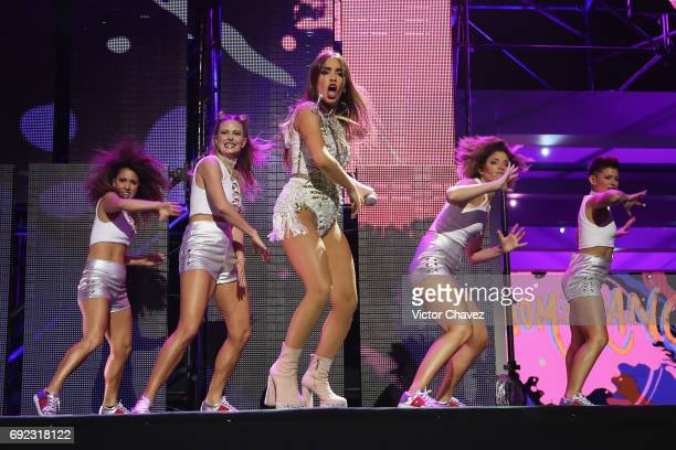 Lali Esposito performs on stage during the MTV MIAW Awards 2017 at Palacio de Los Deportes on June 3 2017 in Mexico City Mexico