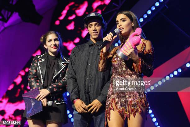 Lali Esposito speaks on stage during the MTV MIAW Awards 2017 at Palacio de Los Deportes on June 3 2017 in Mexico City Mexico