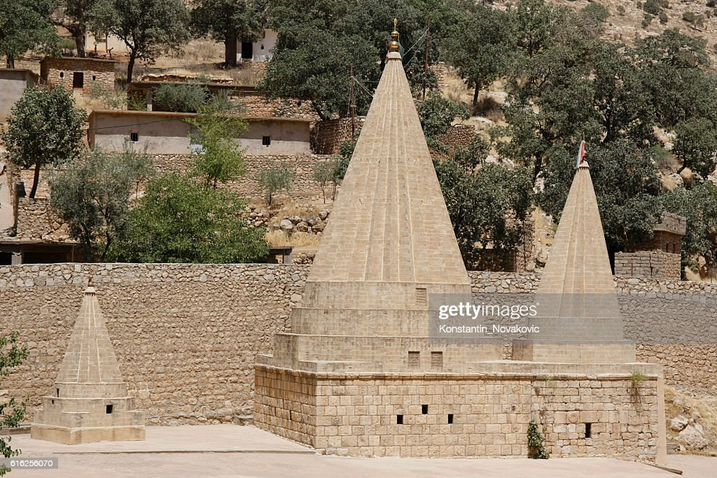 Lalish Yazidi temples : Foto de stock