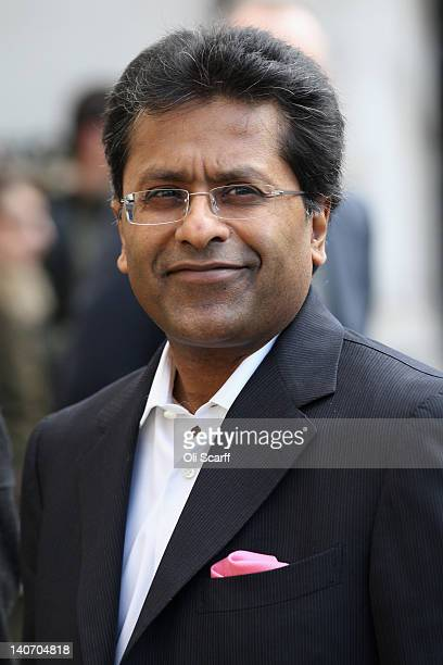 Lalit Modi a former Commissioner of Indian Premier League cricket arrives at the High Court on March 5 2012 in London England ExNew Zealand cricketer...
