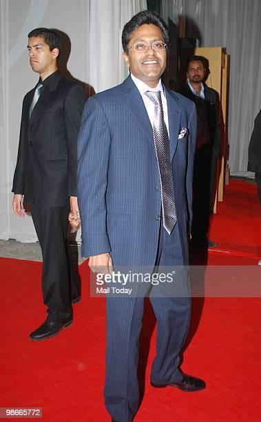 Lalit Modi arrives for the IPL Awards night in Mumbai on April 23 2010