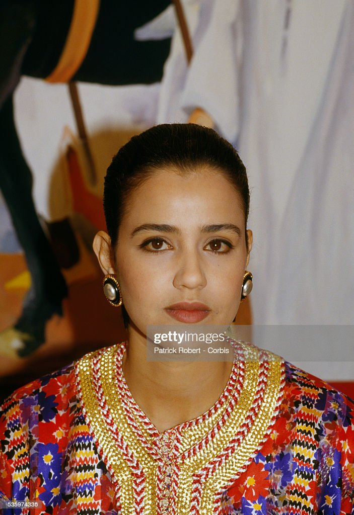 Lalla Meriem, Princess of Morocco, attends the 1987 Prix de Diane Hermes horse race in Chantilly, France. While at the event she met with Jean-Louis Dumas, CEO of Hermes of Paris fashion house, which celebrated its 150th anniversary in 1987.