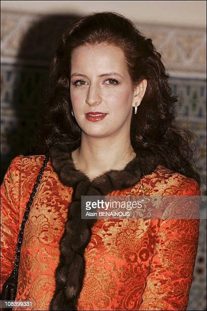 Lalla Salma in Marrakech Morocco on January 17 2005