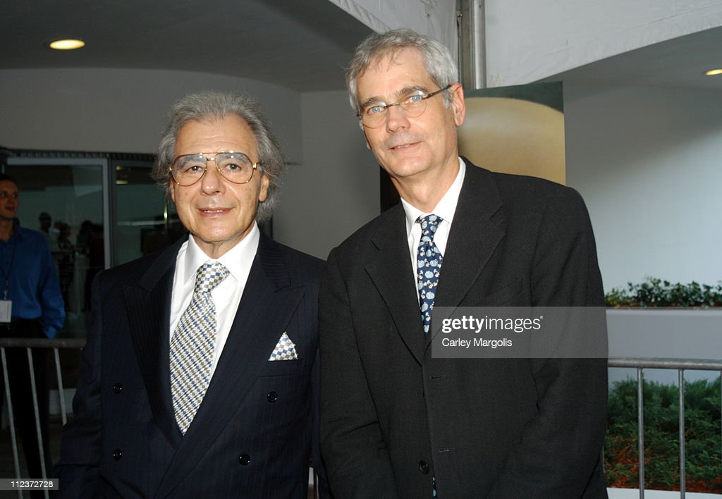 Lalo Schifrin composer and Mathew Robbins during 'THX 1138' Director's Cut New York Special Screening at Guggenheim Museum in New York City New York...