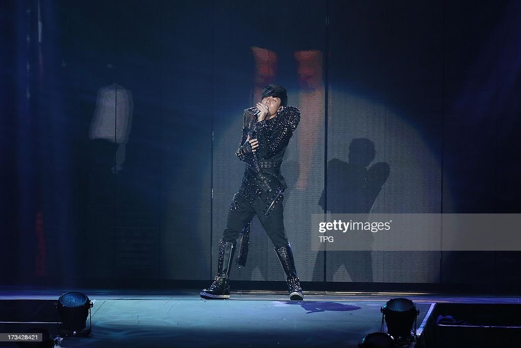 Lam JJ perform at Lam JJ World tour on Saturday July 13,2013 in Taipei Taiwan,China.