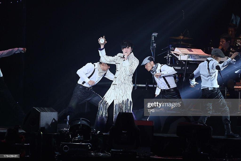 Lam JJ perform at Lam JJ World tour on Saturday July 13,2013 in Taipei Taiwan,China.
