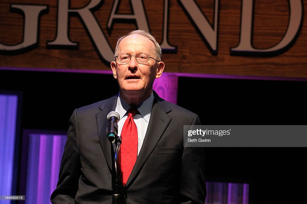 Lamar Alexander talks at Center Stage at The Opry celebrating Minnie Pearl's 100th at The Grand Ole Opry on October 22, 2012 in Nashville, Tennessee.