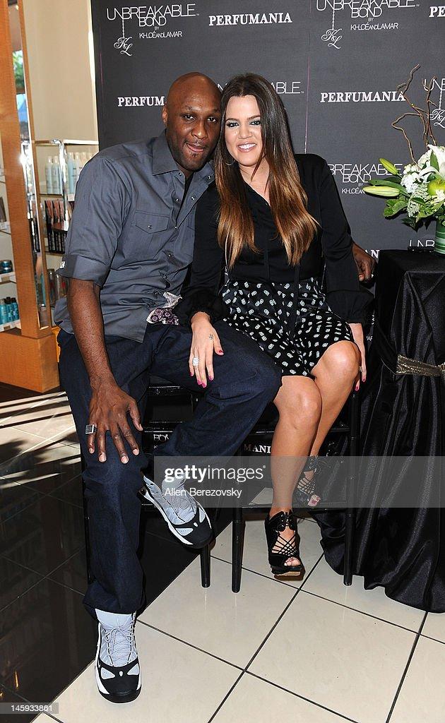 Ê Lamar Odom and Khloe Kardashian Odom make a personal appearance to promote their 'Unbreakable Bond' fragrance at Perfumania on June 7, 2012 in Orange, California.Ê