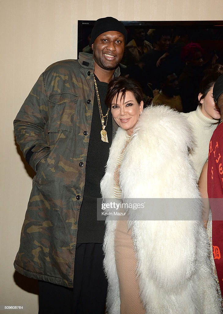 <a gi-track='captionPersonalityLinkClicked' href=/galleries/search?phrase=Lamar+Odom&family=editorial&specificpeople=201519 ng-click='$event.stopPropagation()'>Lamar Odom</a> and Kris Kardashian attend Kanye West Yeezy Season 3 at Madison Square Garden on February 11, 2016 in New York City.