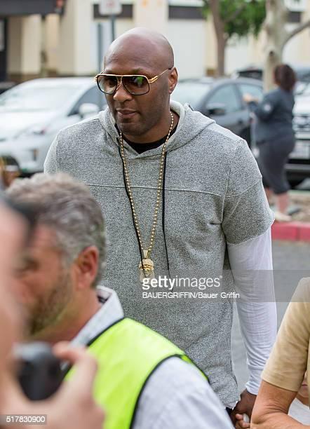 Lamar Odom is seen on March 27 2016 in Los Angeles California