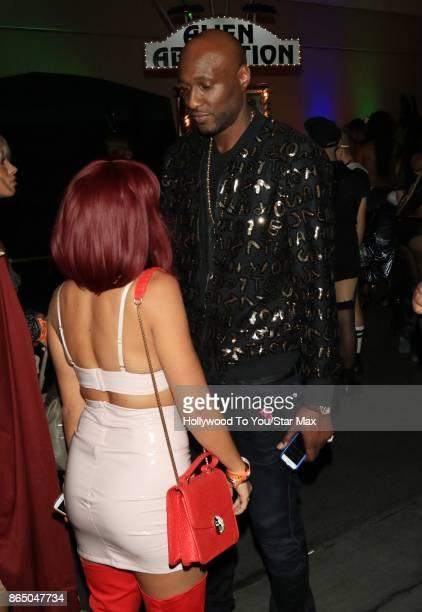 Lamar Odom is seen on October 21 2017 in Los Angeles CA