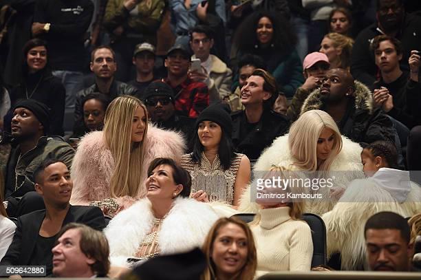Lamar Odom Khloe Kardashian Kylie Jenner Kim Kardashian North West Olivier Rousteing Kris Jenner and Melanie Griffith attend Kanye West Yeezy Season...
